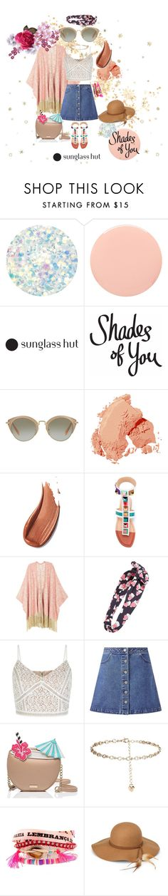 """""""Shades of You: Sunglass Hut Contest Entry"""" by siopaonessmuch on Polyvore featuring Deborah Lippmann, Smith & Cult, Miu Miu, Bobbi Brown Cosmetics, Fendi, Melissa McCarthy Seven7, Cara, New Look, Miss Selfridge and Kate Spade"""