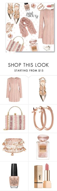 """""""Pink SUEDE"""" by jckallan ❤ liked on Polyvore featuring Balmain, Valentino, Alexander McQueen, Pori, Accessorize, Giorgio Armani, OPI, Yves Saint Laurent, Mint Velvet and suede"""