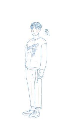 RyuJunYeol by.theold Ryu Joon Yeol, K Wallpaper, Minimalist Drawing, Kpop, Yoona, Korean Actors, Anime Art, Bae, Fanart