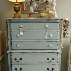 Chest of Drawers in DB Savannah Mist from Cotton Belle.