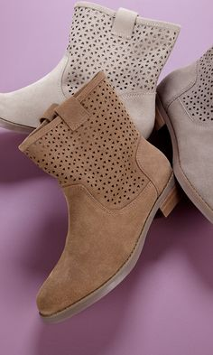 laser cut out boots for fall