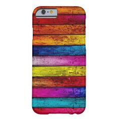 Colorful Abstract Wood Pattern Barely There iPhone 6 Case