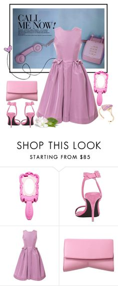 """""""Call me now!"""" by cherieaustin ❤ liked on Polyvore featuring Moschino, Alexander Wang, Katie Ermilio and Narciso Rodriguez"""