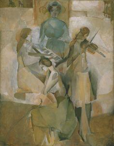 marcel duchamp(1887-1968), sonata, 1911. oil on canvas, 145.1 x 113.3 cm. philadelphia museum of art, pennsylvania, usa