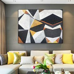 Geometric art Abstract painting acrylic paintings on canvas original art black Painting Wall Pictures cuadros abstractos framed wall art Dog Canvas Painting, Canvas Painting Landscape, Black Painting, Wall Canvas, Framed Wall Art, Acrylic Paintings, Original Art, Original Paintings, 3 Piece Wall Art