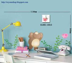Dong-ho-gau-va-buom1 Wall Clock Sticker, Stickers, Baby, Sticker, Babies, Infant, Decal, Child, Babys