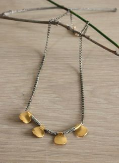 golden Cotton necklace from Anne Poon