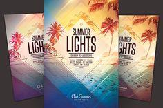 Summer Lights Flyer by styleWish on @creativemarket
