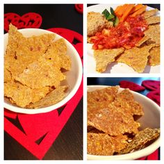Raw Organic Corn tortilla chips…. 1 cup Corn 1 Red onion 1 cup Ground flaxseed Salt and pepper These took only about 1 min in the food processor to make, just add all the ingredients together until mixed..then around 12 hours to dehydrate..so nice!