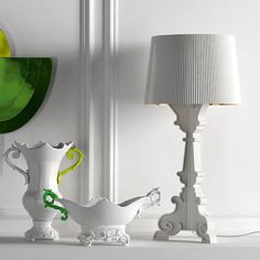 Bourgie Lamp, White/Gold - Ferruccio Laviani - Kartell - RoyalDesign.com