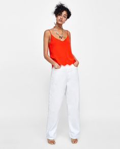 Image 1 of SCALLOPED TOP from Zara