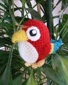 Sun and Moon Amigurumi: Häkelanleitung Papagei // Crochet pattern Parrot