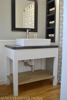 Simple U0026 Charming Farmhouse Sink With A Modern Vanity Base