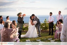 The Infinity Lawn is super soft seashore grass bordered by varieties of Hibiscus flowers. With over 6,500 square feet of lawn and a 180 degree ocean view from Kaho'olawe to Molokai, this is a fabulous spot for wedding ceremonies, Vow renewals, civil unions, or intimate events. Parking available, Large Guest Bathrooms. Site fee starts at $2500. #MauiWeddings #MauiWeddingPlanners #DestinationWeddings #WeddingVenues #WeddingLocations