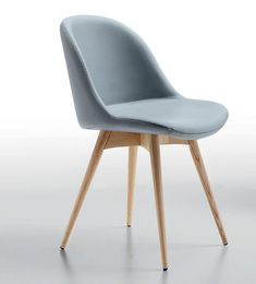 Sonny LG, Wooden chair, seat covered in leather or fabric- IDFdesign-