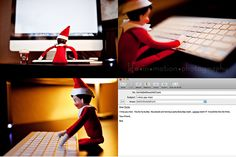 Elf on the Shelf idea - Emailing his friends. Or Santa?
