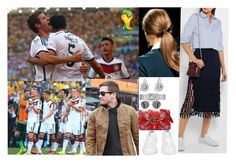 """Attending Fifa World Cup Brazil 2014 Quarter Final match between France and Germany at Maracana on July 4, 2014 in Rio de Janeiro, Brazil."" by otma-cc ❤ liked on Polyvore featuring MANU Atelier, adidas, Cartier, Gucci and Prada"
