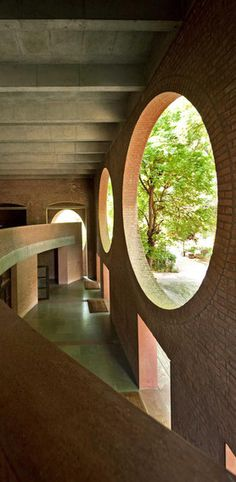National Assembly Building in Dhaka, Bangla-desh, Louis Kahn, 1962–83 © Raymond Meier.  Vitra Design Museum Retrospective