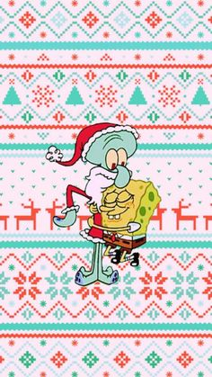 iphone wallpaper winter iPhone and Android Wallpapers: Squidward and Spongebob Christmas Wallpaper for iPhone and Android Holiday Iphone Wallpaper, Cute Christmas Wallpaper, Holiday Wallpaper, Winter Wallpaper, Cartoon Wallpaper Iphone, Iphone Background Wallpaper, Cute Disney Wallpaper, Cute Cartoon Wallpapers, Aesthetic Iphone Wallpaper