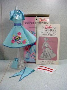 Mattel Barbie Sew Free Fashion, Sightseeing, 1965, Complete!