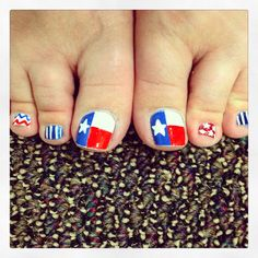 Texas Toes!!  #nailart #texas