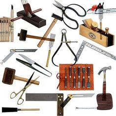 Carpenters use a lot of tools in their work. The most common are nails hammers and saws.  http://img.ehowcdn.com/article-new/ehow/images/a05/at/q4/pictures-descriptions-carpentry-tools-800x800.jpg