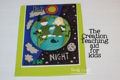 Doodle Craft...: The Creation Lesson Bible Story Visual Aid LOVE THIS!  Sharpie + transparencies!