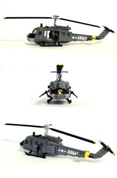 MB UH-1D HUEY HELICOPTER LEGO KIT