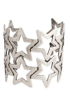 ZAD Silver Open Star Cuff Bracelet - Beyond the Rack