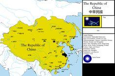 Chinese nationalist dream map of China. Alternate Worlds, Alternate History, Historical Maps, Historical Pictures, Fake History, World History Classroom, Imaginary Maps, China Map, Fantasy Map