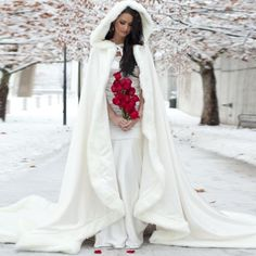 Elegant Cheap 2015 Warm Bridal Cape ivory White Winter Fur Coat Women Wedding bolero Jacket Bridal Cloaks Wedding Coat bridal winter coat