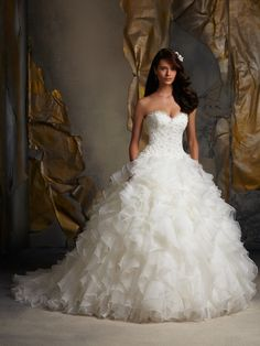The princess wedding dress! Mori Lee Blu Wedding Dresses - Style 5116 #fairytale #wedding #dresses