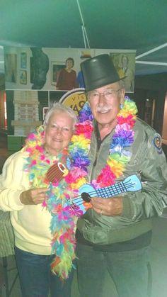 Janet & Paul enjoy #FridayNightLive in #Downtown #MasonCityIA at the Visit Mason City Booth!