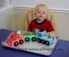 @Ellen Page Tucker--another good tutorial @ Honey Mommy: Easy Train Cake