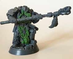 Rune priest conversion - + SPACE WOLVES + - The Bolter and Chainsword Warhammer 40k Space Wolves, Bolter And Chainsword, Warhammer 40k Miniatures, Warhammer 40000, Priest, Runes, Conversation, Wolf, Sci Fi