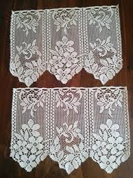 Resultado de imagem para cortinas tejidas a crochet