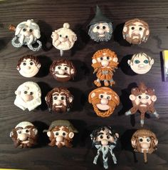 The Hobbit & Dwarves Cupcakes