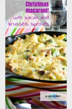Every wonder what to do with your thanksgiving or Christmas leftovers? Keep it simple and delicious with this Leftover turkey pasta bake with bacon and brussels sprouts. It's like a Christmas macaroni cheese! #christmasleftovers #leftovers #macaronicheese #brusselssprouts #turkey #bacon #scrummylane #pasta Healthy Pasta Sauces, Pasta Sauce Recipes, Easy Pasta Recipes, Healthy Pastas, Turkey Pasta, Turkey Bacon, Pasta Plus, Midweek Meals, Leftover Turkey