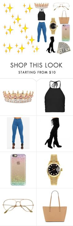 """Birthday#2"" by kisha1891010 ❤ liked on Polyvore featuring Boohoo, Casetify, Rolex and ALDO"