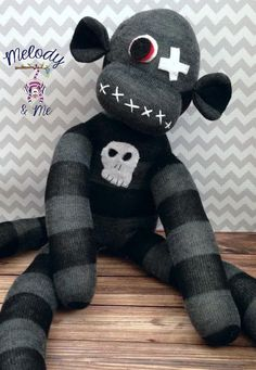 Hey, I found this really awesome Etsy listing at http://www.etsy.com/listing/152069220/zombie-sock-monkey