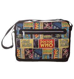 Retro Doctor Who Comic Messenger Bag: Amazon.ca: Luggage & Bags