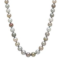 18K Yellow Gold 10-12mm Freshwater Pearl Necklace