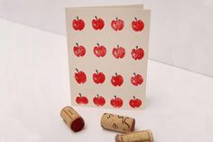 Another stamp craft, this adorable project from the Creative Jewish Mom will find a festive use for those wine corks you've got on hand. Etch an apple design on the bottom of your cork with an Xacto knife, then decorate Rosh Hashanah cards to give to friends and family to wish them a happy new year.