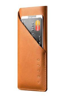 Mujjo lomme etui til iPhone 7 og 6 i brun læder med kreditkortholder