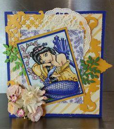 Dreaming of you gemaakt door Juanita Scrapbook Cards, Scrapbooking, Copic, Art Blog, Dreaming Of You, Princess Zelda, Birds, Colour Palettes, Painting