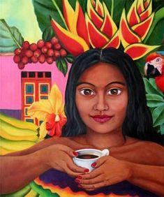Café by Akiko Takashima Colombia / Coffee Art / Coffee Shop Stuff