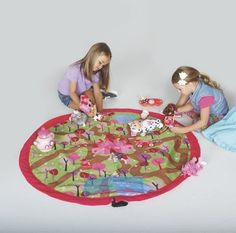 """Princess Play N' Store Ez-Mat: This princess-themed play mat inspires hours of imaginative play, yet reduces toy cleanup time to seconds. Playtime over? Just tighten the mat's drawstring edge, and it becomes a tote with toys inside! 48"""" in diameter, with richly-detailed castle and forest graphics. Includes two interior pockets, hanging loop, and shoulder strap (great for travel!)... Kids Toy Shop, Toys Shop, Kids Toys, Bye Bye Baby, Play Mats, Travel Toys, Activity Toys, Developmental Toys, Quiet Books"""