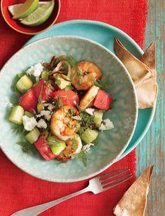 Shrimp and Watermelon Skillet Recipe  at Epicurious.com