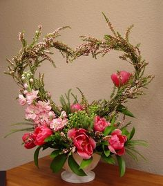 Heart floral arrangement