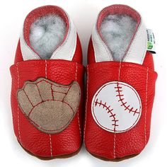 Baseball Soft Sole Leather Baby Shoes $11.99